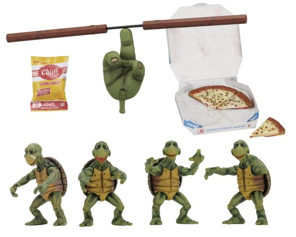 TEENAGE MUTANT NINJA TURTLES 1990 BABY TURTLES 1/4 SCALE ACTIONFIGUREN SET