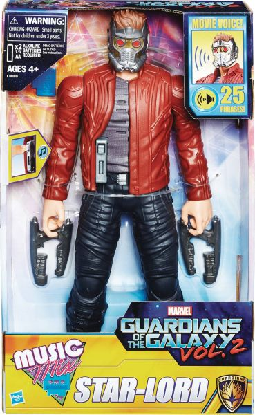 MARVEL GUARDIANS OF THE GALAXY ELECTRONIC MUSIC MIX STAR LORD 30cm ACTIONFIGUR