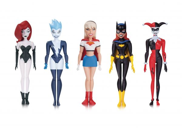 BATMAN ANIMATED NBA GIRLS NIGHT OUT ACTIONFIGUREN 5-PACK