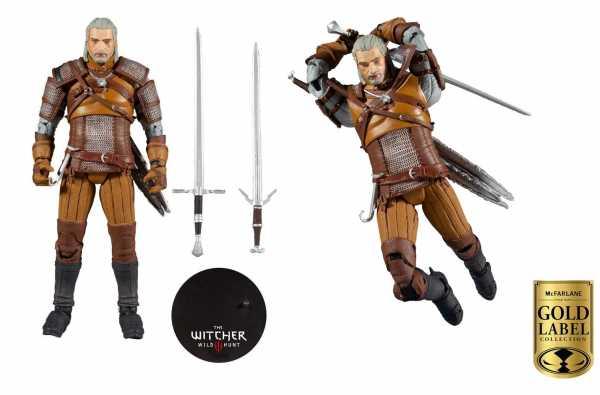 VORBESTELLUNG ! The Witcher Geralt of Rivia Gold Label Series 18 cm Actionfigur