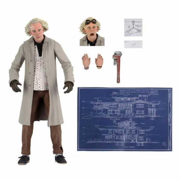 Zurück in die Zukunft Ultimate Doc Brown 18 cm Actionfigur