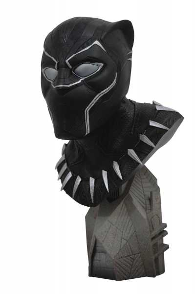LEGENDS IN 3D MARVEL MOVIE AVENGERS 3 BLACK PANTHER 1/2 SCALE BUST