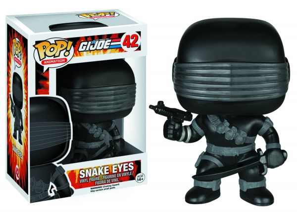 POP GI JOE SNAKE EYES VINYL FIGUR defekte Verpackung