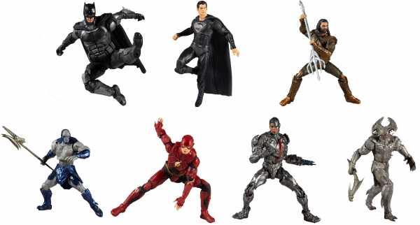 VORBESTELLUNG ! DC Zack Snyders Justice League Movie alle 7 Actionfiguren Komplett Set