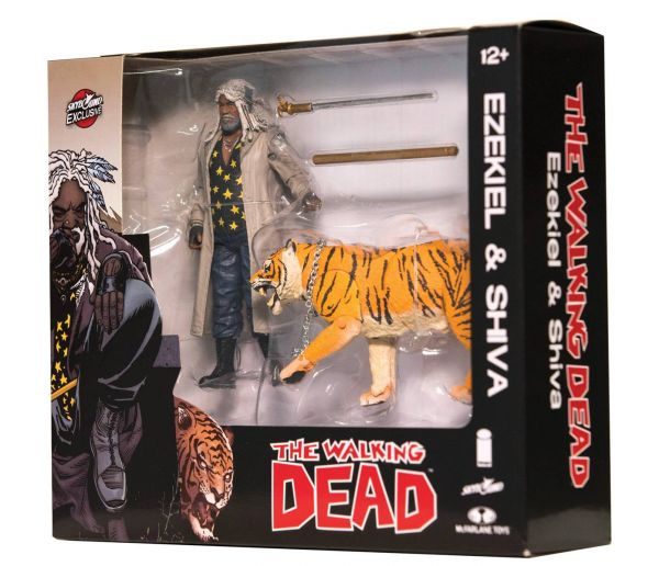 WALKING DEAD EZEKIEL & SHIVA ALL OUT WAR ACTIONFIGUR 2-PACK (COLOR)