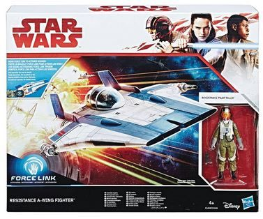 STAR WARS GALAXY EPISODE 8 CLASS B VEHICLE RESISTANCE A-WING FIGHTER