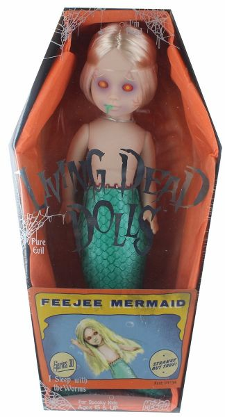 LIVING DEAD DOLLS SERIES 30 THE FEEJEE MERMAID PUPPE