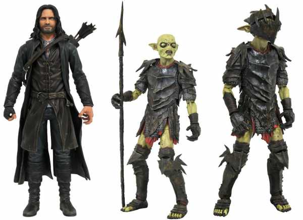 VORBESTELLUNG ! The Lord of the Rings Select Aragorn and Moria Orc Actionfiguren 2-Pack