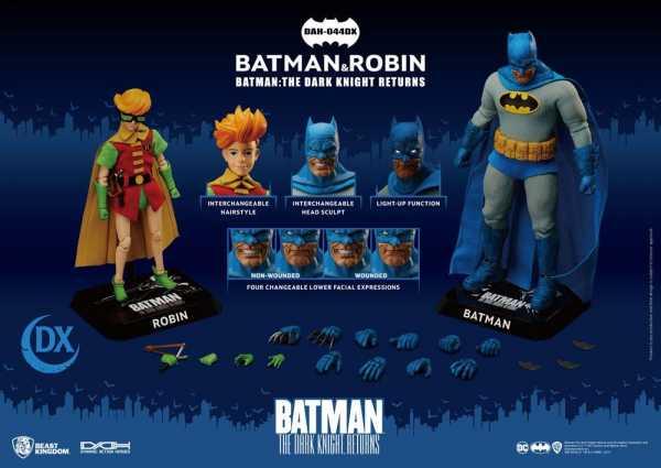 VORBESTELLUNG ! Batman TDKR Dynamic 8ction Heroes 1/9 Batman & Robin Actionfiguren 2-Pack