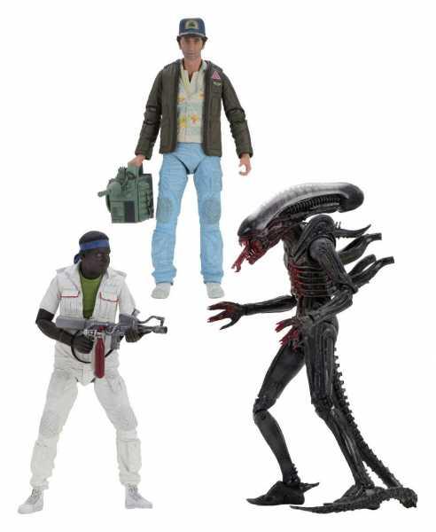 Alien 40th Anniversary 18 cm Actionfiguren Wave 2 Komplett-Set