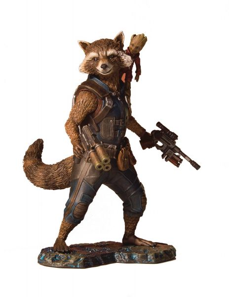MARVEL GUARDIANS OF THE GALAXY 2 ROCKET & GROOT COLLECTORS GALLERY STATUE
