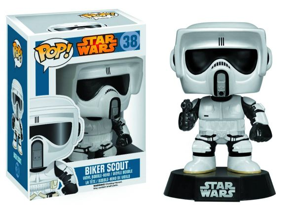 POP STAR WARS BIKER SCOUT TROOPER VINYL FIGUR