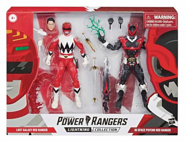 VORBESTELLUNG ! POWER RANGERS LIGHTNING IS PSYCHO/LG RED RANGERS 2 Pack