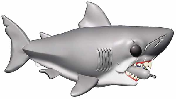 POP MOVIES 15 cm JAWS WITH DIVING TANK VINYL FIGUR