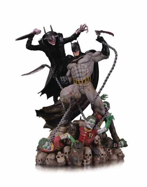 VORBESTELLUNG ! DC Comics Battle Batman Who Laughs vs. Batman 33 cm Statue