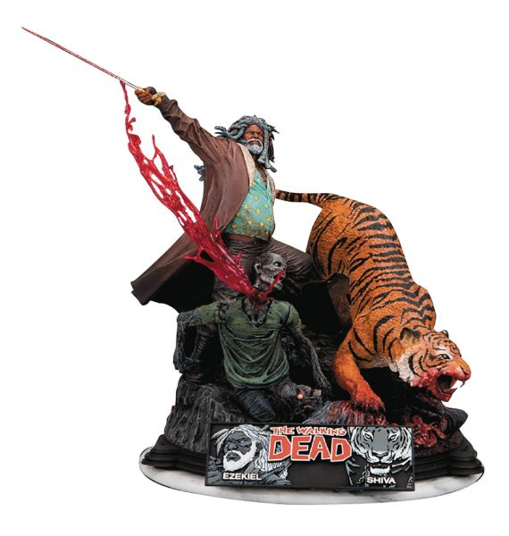 WALKING DEAD EZEKIEL & SHIVA RESIN STATUE