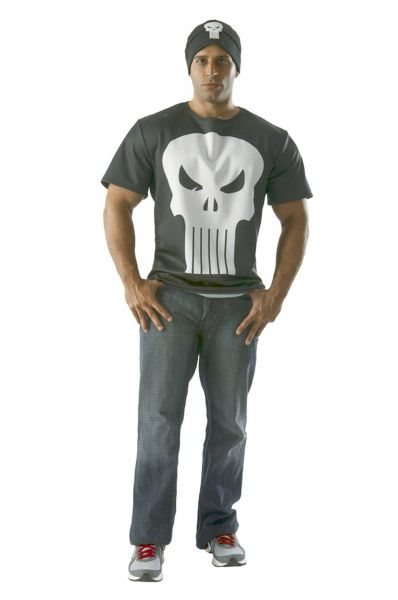 MARVEL PUNISHER T-SHIRT WITH BEANIE MEDIUM