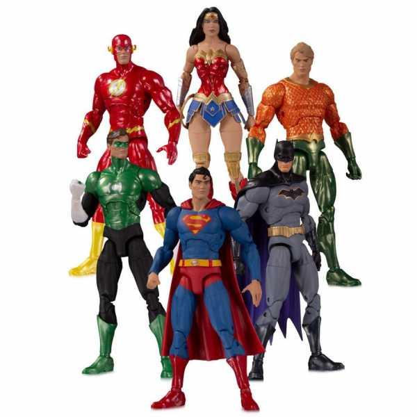VORBESTELLUNG ! DC Essentials Justice League Actionfigur 6-Pack