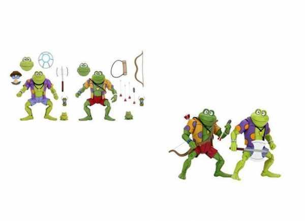 VORBESTELLUNG ! Teenage Mutant Ninja Turtles Genghis & Rasputin Frog 18 cm Actionfiguren Doppelpack