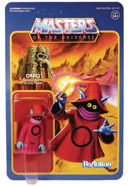 MASTERS OF THE UNIVERSE 10 cm REACTION WAVE 4 ORKO ACTIONFIGUR