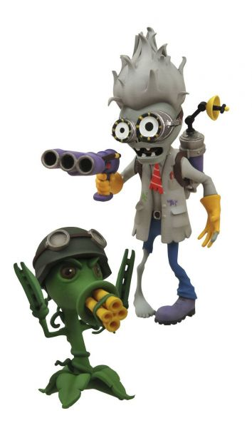 PLANTS VS ZOMBIES GW GATLING PEASHOOTER ACTIONFIGUR