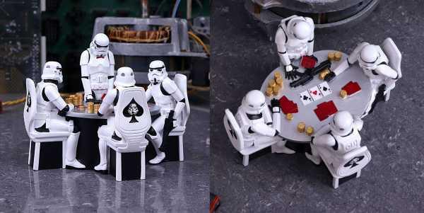 VORBESTELLUNG ! Star Wars Stormtrooper Poker Face 18 cm Diorama
