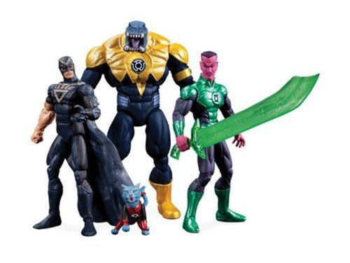 GREEN LANTERN SDCC 10cm ACTIONFIGUREN-SET