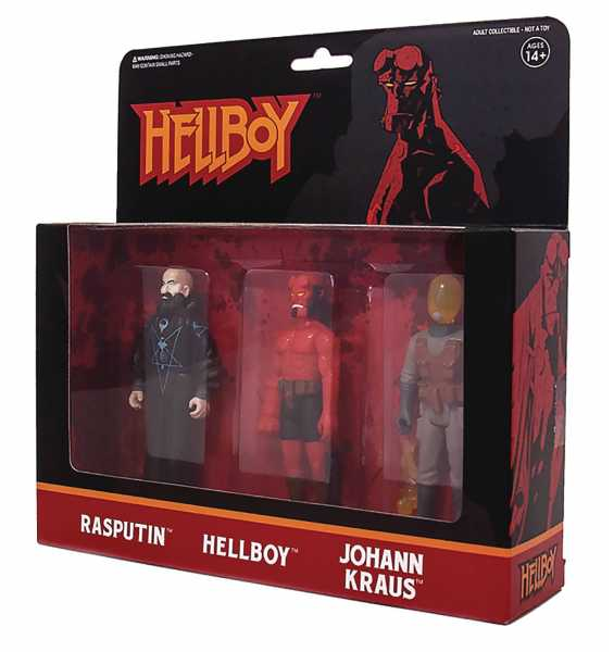 HELLBOY REACTION FIGURES ACTIONFIGUREN 3-PACK PACK B