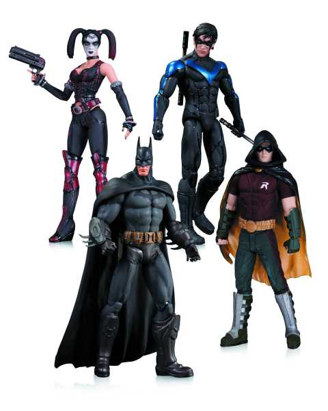 ARKHAM CITY ACTIONFIGUR 4-PACK HARLEY BATMAN NIGHTWING ROBIN