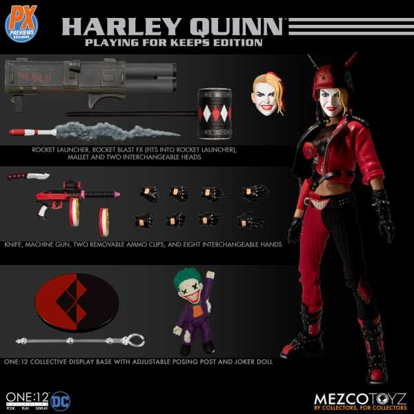 ONE-12 COLLECTIVE DC HARLEY QUINN PLAYING FOR KEEPS EDT. PX ACTIONFIGUR