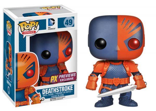 POP HEROES DEATHSTROKE PX VINYL FIGUR defekte Verpackung