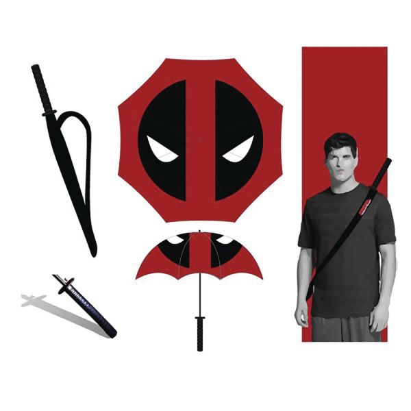 MARVEL DEADPOOL KATANA REGENSCHIRM