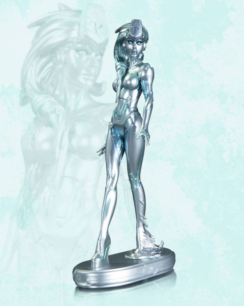 DC COMICS COVER GIRLS PLATINUM STATUE