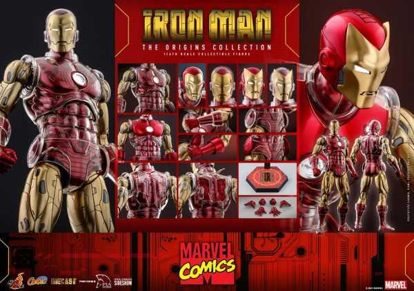 VORBESTELLUNG ! Marvel The Origins Collection Comic Masterpiece 1/6 Iron Man 33 cm Actionfigur