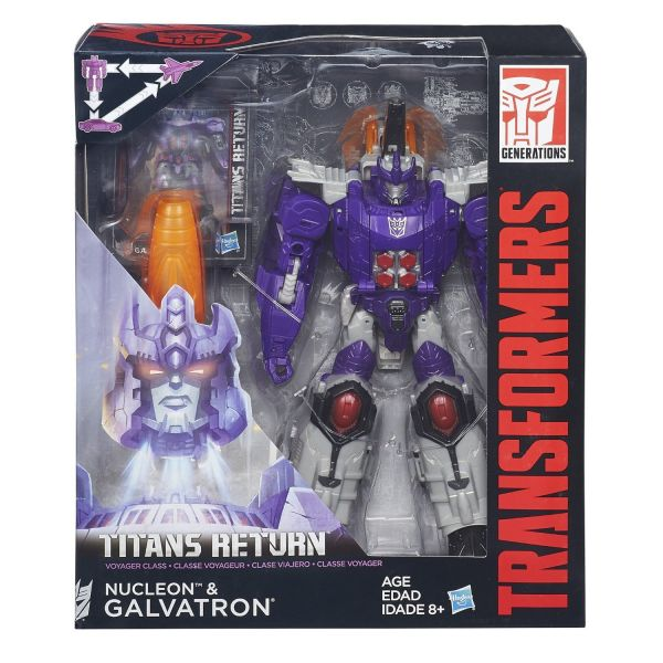 TRANSFORMERS GENERATIONS TITANS RETURN VOYAGER CLASS GALVATRON ACTIONFIGUR