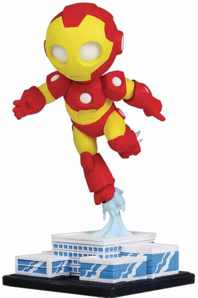MARVEL MINI HEROES ANIMATED IRON MAN PVC STATUE