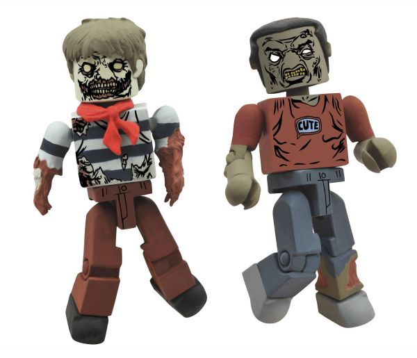 WALKING DEAD SERIES 2 MINIMATES ROAMER ZOMBIE 2-PACK