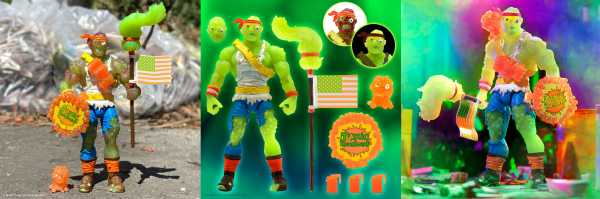 VORBESTELLUNG ! Toxic Crusader Ultimates Radioactive Red Rage Toxie 7 Inch Actionfigur