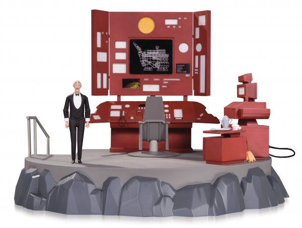 BATMAN ANIMATED BATCAVE PLAYSET & ALFRED
