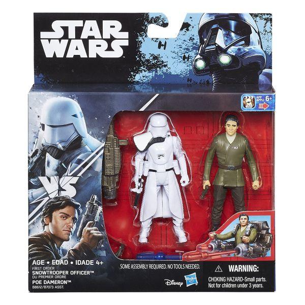 Star Wars The Force Awakens First Order Snowtrooper Officer vs. Poe Dameron 10cm Actionfiguren 2-Pac
