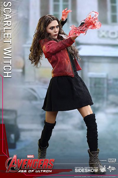 Hot Toys Avengers Age of Ultron Movie Masterpiece 1/6 Scarlet Witch 28 cm Actionfigur