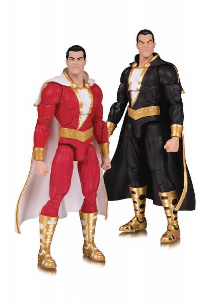 DC ESSENTIALS SHAZAM & BLACK ADAM ACTIONFIGUR 2-PACK