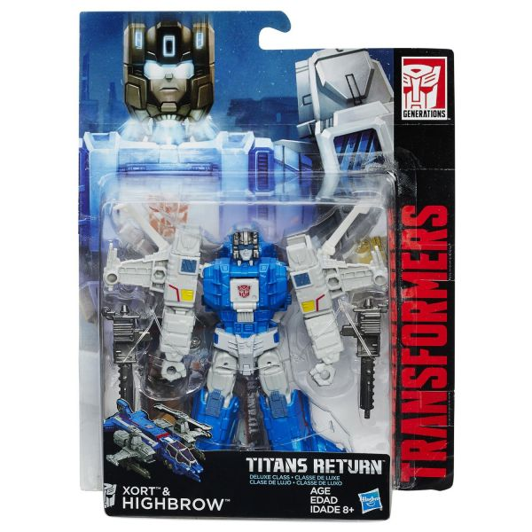 TRANSFORMERS GENERATIONS TITANS RETURN DELUXE CLASS XORT & HIGHBROW ACTIONFIGUR