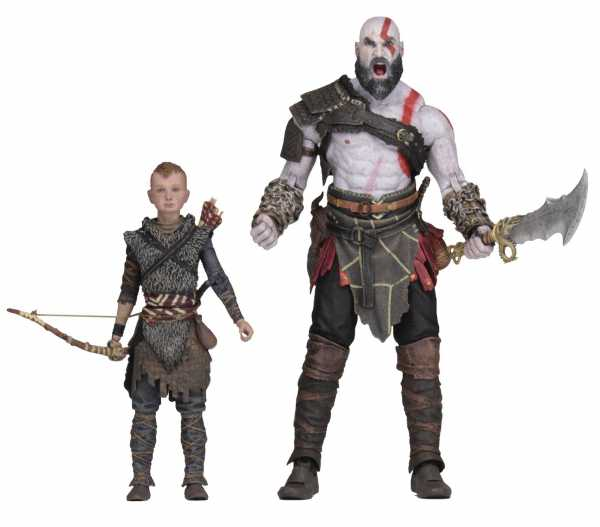 GOD OF WAR 2018 ULTIMATE KRATOS & ATREUS 17,5 cm SCALE ACTIONFIGUREN 2-PACK