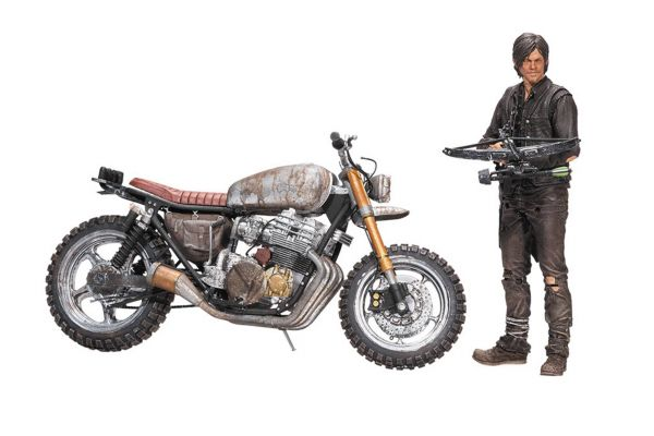 WALKING DEAD TV DARYL DIXON WITH NEW BIKE ACTIONFIGUR BOX SET