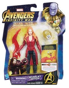 AVENGERS 15 cm SCARLET WITCH ACTIONFIGUR MIT INFINITY STONE