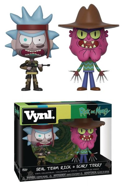 VYNL RICK & MORTY SEAL TEAM RICK AND SCARY VINYL FIGUREN 2-PACK