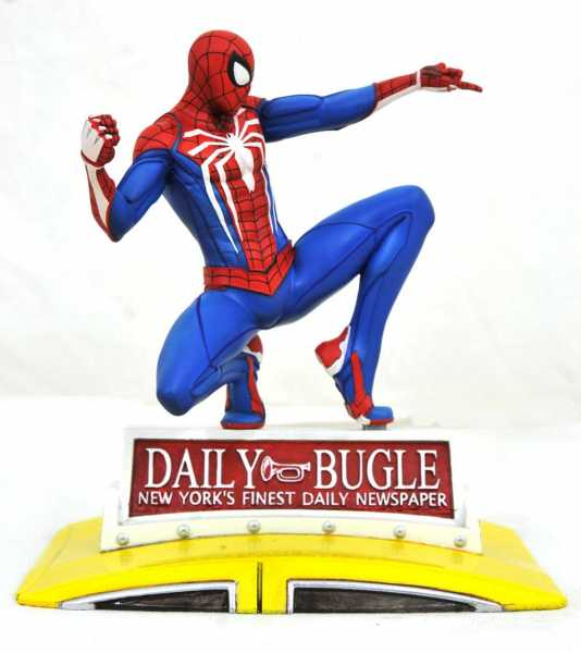 Marvel Gallery PS4 Spider-Man on Taxi 23 cm PVC Diorama