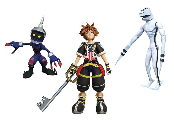 KINGDOM HEARTS SELECT SERIES 1 SORA, DUSK & SOLDIER ACTIONFIGUR