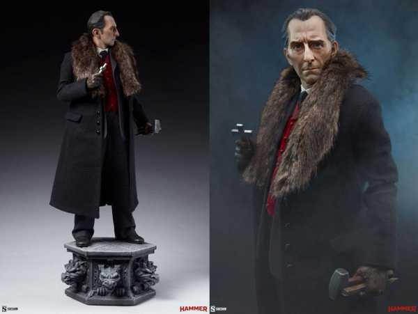 AUF ANFRAGE ! Dracula Van Helsing (Peter Cushing) 55 cm Premium Format Statue